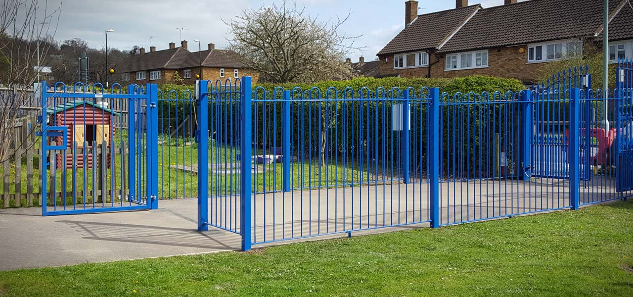 school fencing and railings